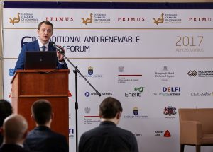Welcome remarks by Žygimantas Vaičiūnas, Minister of Energy of the Republic of Lithuania. 6th Traditional and Renewable Energy Forum